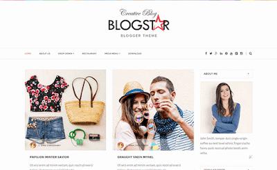 blogstar responsive blogger template