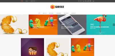 Gridz responsive blogger template