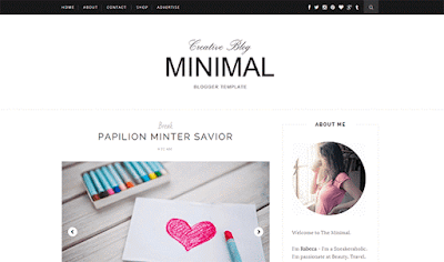 Minimal responsive blogger template