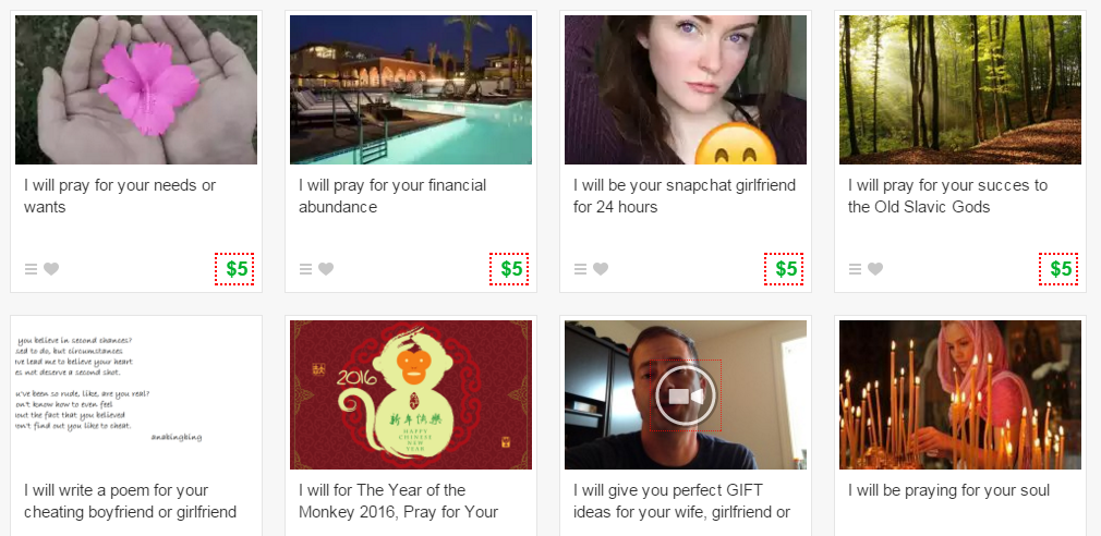 Funny Gigs on Fiverr