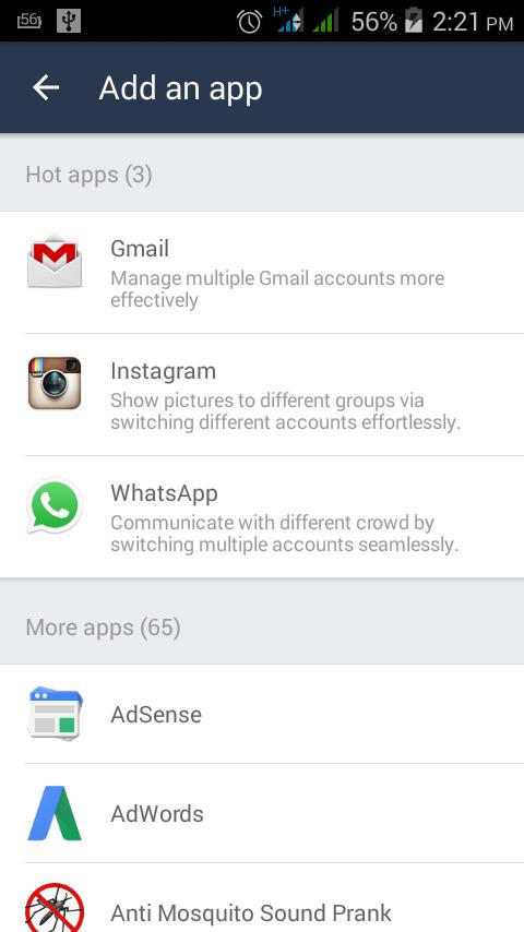 Access two whatsapp accounts on the same phone