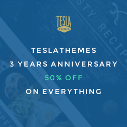 50% Discount Tesla Themes Coupon Code