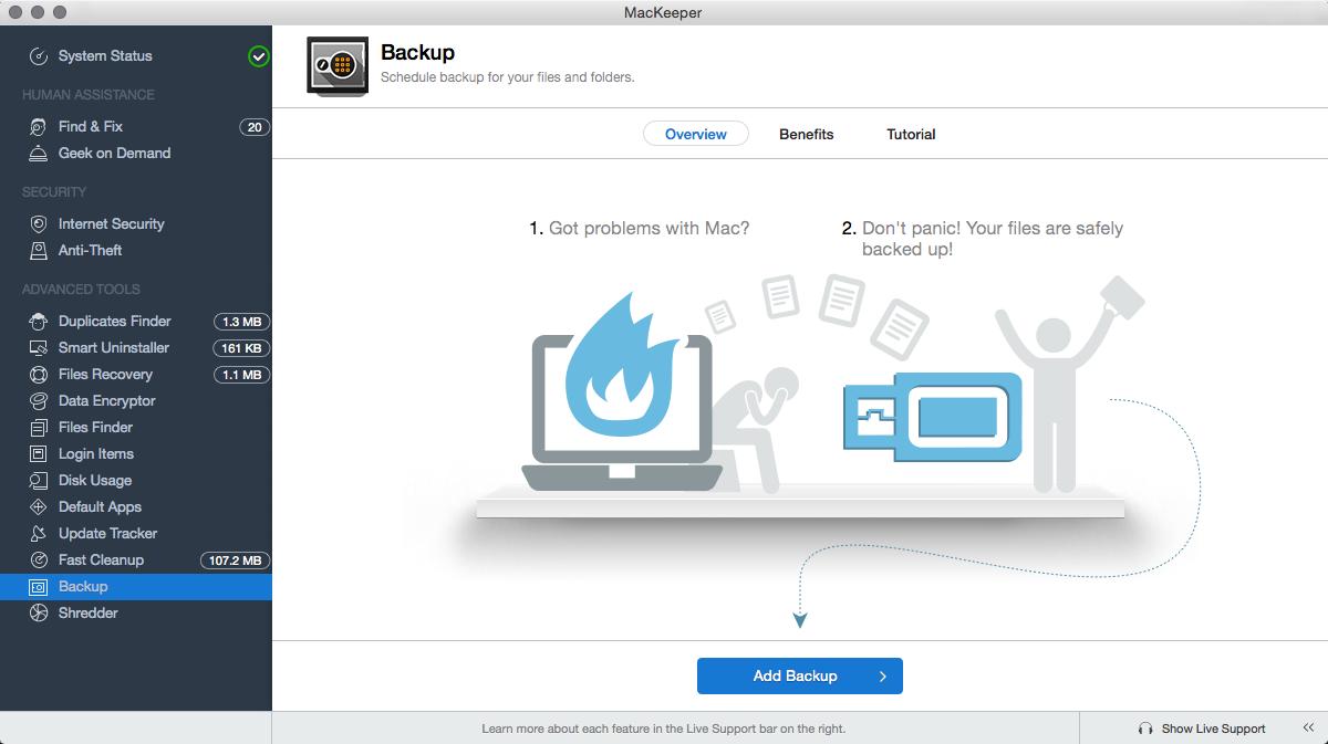 Backup of MAC device