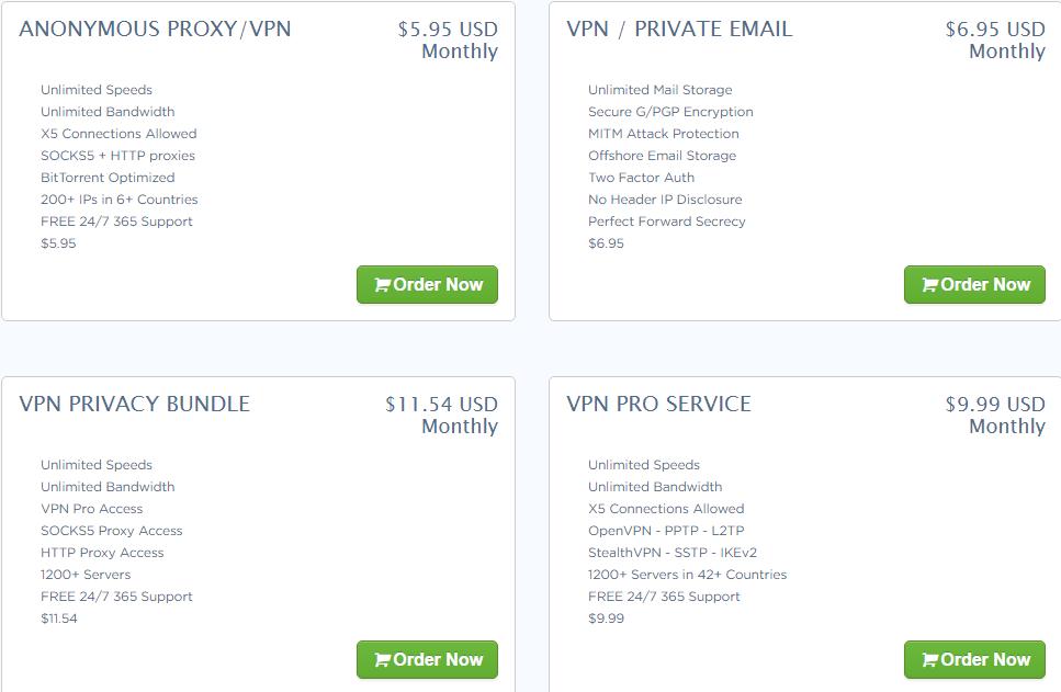 VPN services by Temok Webhosting