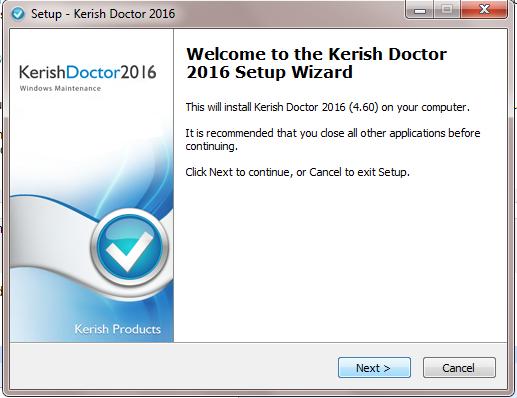 Kerish doctor setup wizard