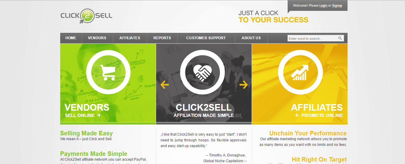 Click2Sell: payments made easy