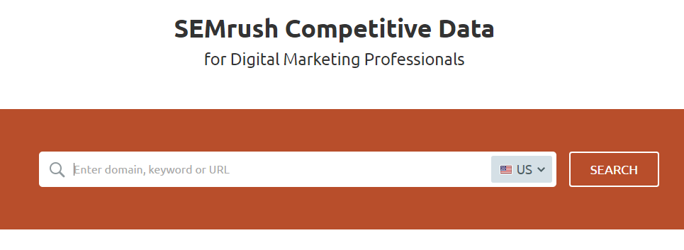 Semrush - Low competition keywords finder