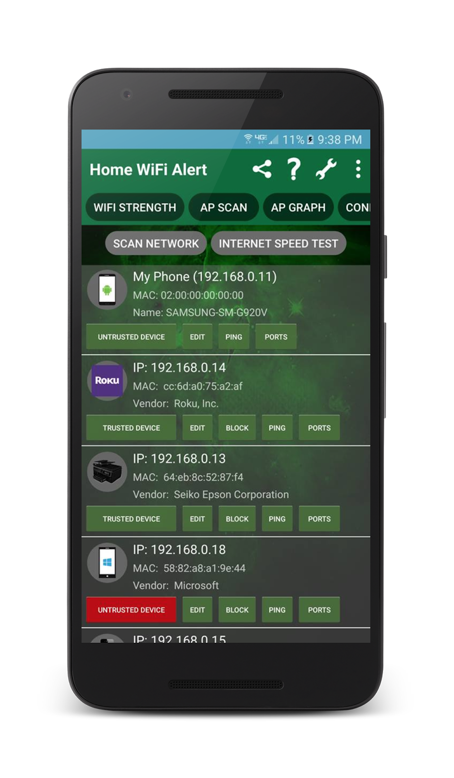 scanning wi-fi network