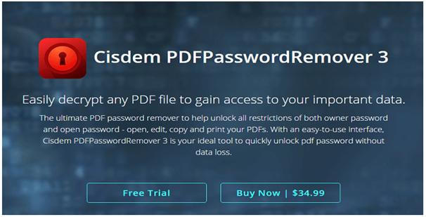 Cisdem PDFPasswordRemover review