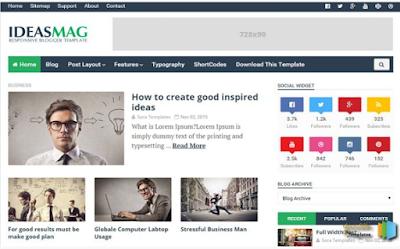 Ideas mag Minimalist Blogger Template