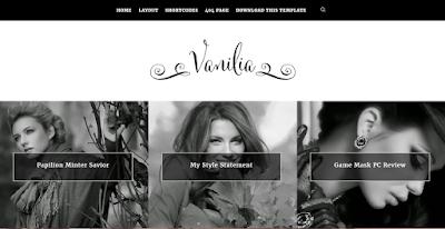Vanilia clean template for fashion bloggers