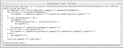 CFR Java decompiler