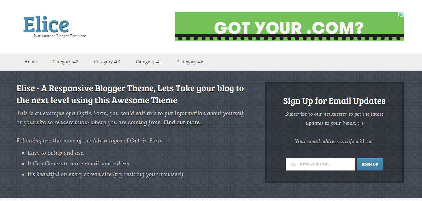 Elice-Faster loading blogger template