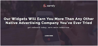 Earnify ad network