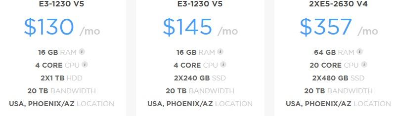 Hostiserver Dedicated Server Hosting Price