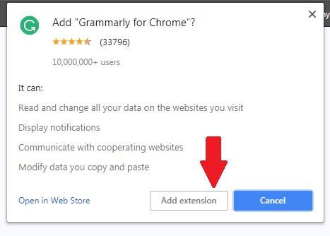 Grammarly extension to redeem Grammarly promo code