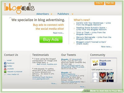 earn by hosting ads on blog