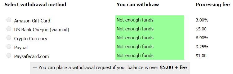 Picoworkers withdrawal