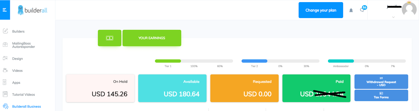 Builderall affiliate payment proof