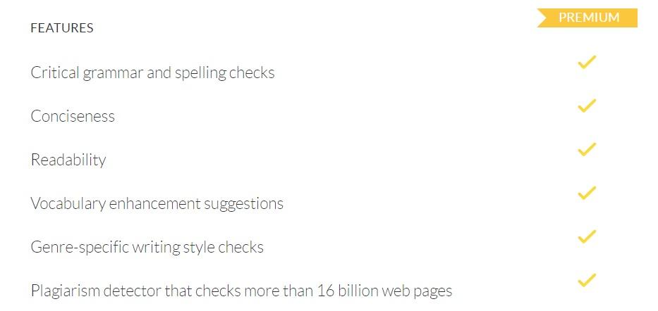Grammarly Premium Features