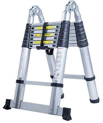 A Frame Shape telescoping Ladder