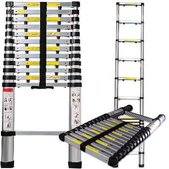 OxGord Aluminum Telescopic Extension Ladder