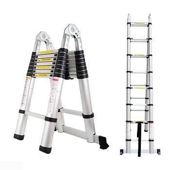 a frame telescoping ladder