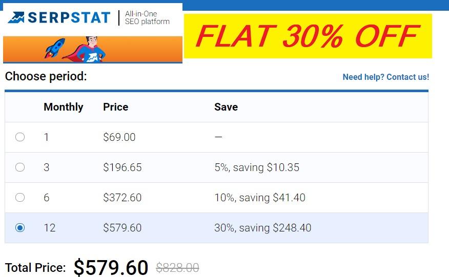 Serpstat discount coupon 2019