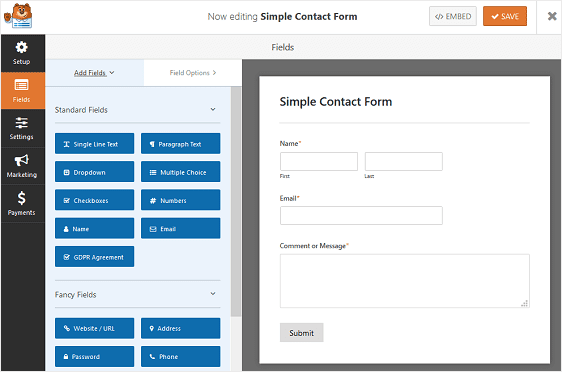 Creating the file upload form