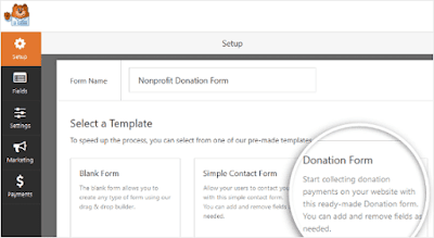 Create the donation form
