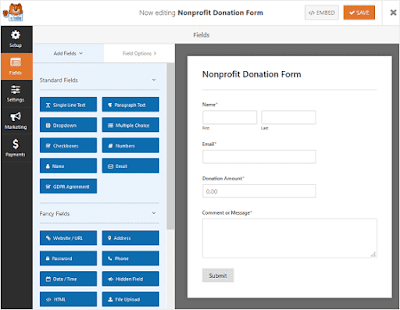 Customize the donation form