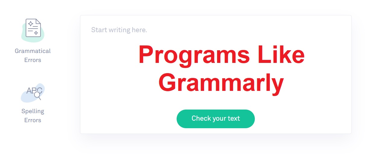 Programs like Grammarly