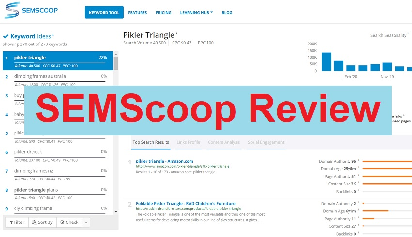 Semscoop review