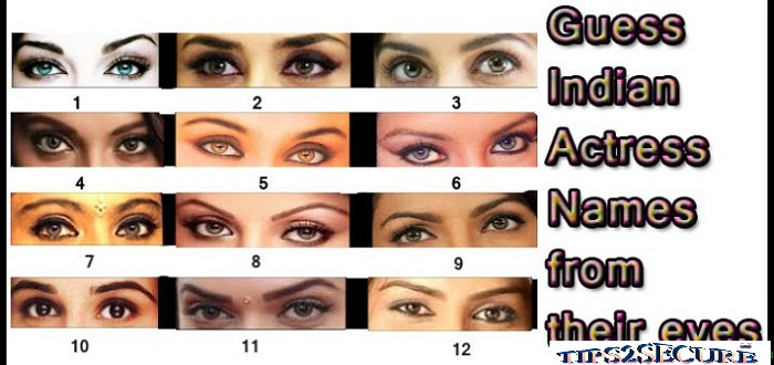 whatsapp dare to guess actresses from their eyes