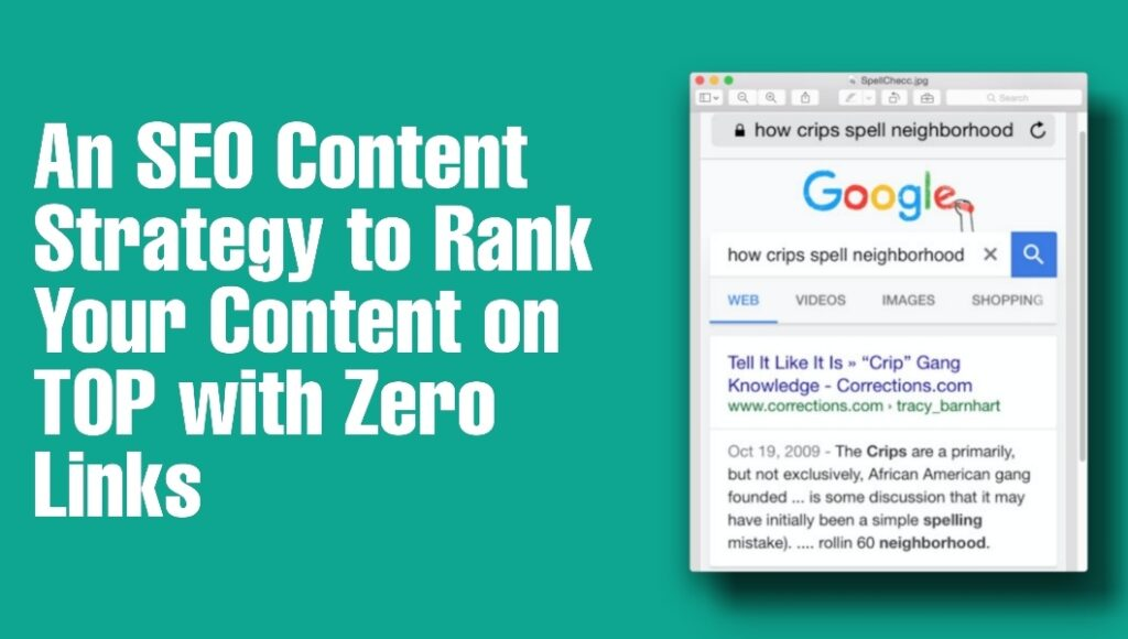 seo strategy to rank conntent on top