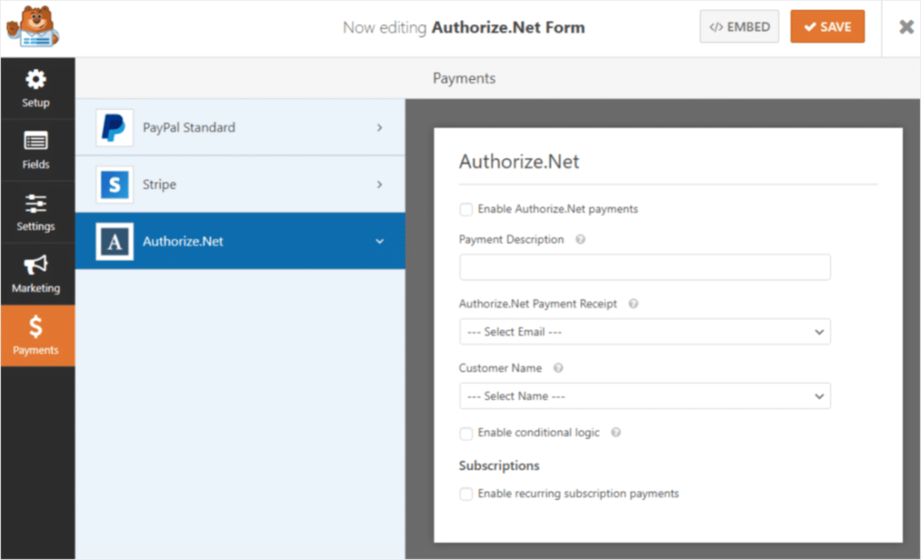 authorize-net-addon-in-action
